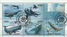 Timbres Faune marine Baleines Comores 2245/9 o de 2011 lot 15493 - cote : 19 €