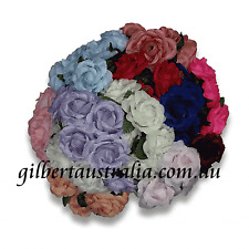 Combo Bulk Pack 72 Assorted Craft Flowers Many Colours Cabbage Rose