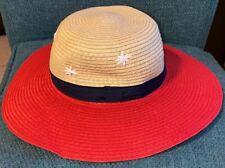 New Cat & Jack Girls' Toddler Baby Floppy Sun Beach Pool Hat  2T-5T red stars