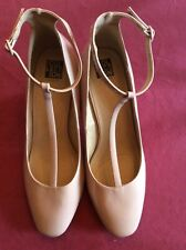 Patent Ladies Shoes, 7/40, Occassion, Pale Pink/nude, Debenhams, Wide Fit