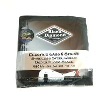 Black Diamond Bass Strings - 5 String Set - Stainless Steel Wound Medium