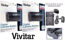 2 - Pc NP-FM500H Li-Ion Battery With Charger For Sony Alpha DSLR-A850 DSLR-A900