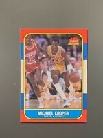 1986 Fleer #17 Michael Cooper EXMT Los Angeles Lakers
