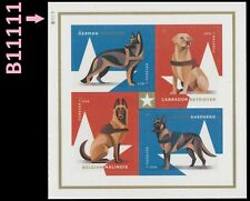 US 5408a Military Working Dogs plate block set B11111 MNH 2019