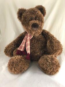 "GUND Heads & Tales Brown Teddy Bear Stuffed Animal Large Plush Toy 22"" Big"