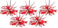 Zest Christmas Tinsel & Star Hair Bobbles Bands Red & Silver