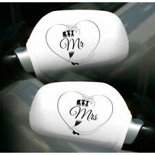 Hochzeit Autospiegelüberzieher Mr. / Mrs. Wedding Deko Auto Wedding Set Hochzeit