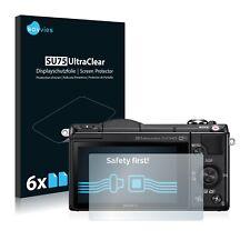 6x Savvies protector de pantalla para Sony Alpha 5000 (dslr-a5000) transparente