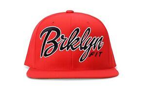 BRKLYN FIT® LOGO (RED/BLACK/WHITE) - SNAPBACK