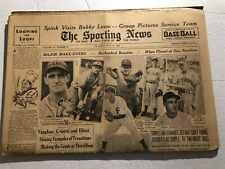 1942 Sporting News BROOKLYN DODGERS Arky VAUGHAN New York Yankees FRANK CROSETTI