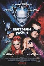 """BATMAN AND ROBIN 1997 Original DS 2 Sided 27z40"""" Movie Poster George Clooney"""