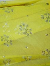 Soft Egyptian Assiut Assuit Tulle Yellow Wide HipScarf Shawl Wrap Veil