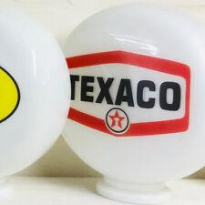 Mini Gas Pump Globe, Texaco Oil and Petrol Memorabilia, Hand Blown Glass Globe