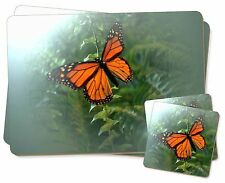 Red Butterfly in the Mist Twin 2x Placemats+2x Coasters Set in Gift Box, I-BU2PC