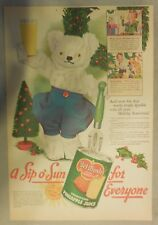 Del Monte Pineapple Juice Ad: A Sip Of Sun for Everyone ! 1940's 11 x 15 inches