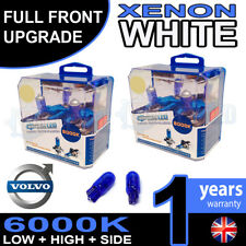 Volvo S80 06-on Xenon White Upgrade Kit Headlight Side Dipped High Bulbs 6000k