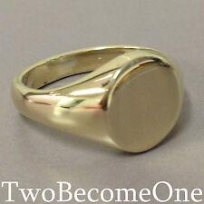 9 Carat Yellow Gold Signet Rings for Men