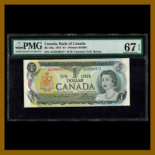 Canada 1 Dollar, 1973 P-85a BC-46a PMG 67 EPQ Lawson/Bouey Queen Elizabeth II