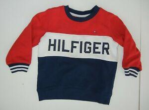 TOMMY HILFIGER Classic Red/Blue CREW NECK SWEATSHIRT Gym Baby Kid Sz 3T Toddler