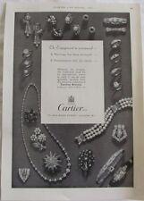 Vintage 1954 Cartier Ltd New Bond Street London, Original Print Advertisement Ad