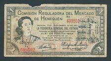 F.C. MEJICO MEXICO , HENEQUEN , 1 PESO 1914 , B/C (F) , ROTURA , S/A  , P.S1122b