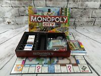 Monopoly City Board Game Hasbro 2008 3D Buildings Complete