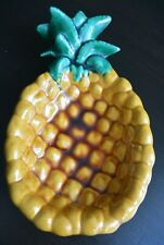 Fabulous Vintage Vallauris Pineapple Shaped Dish - mid-century 1960's - Signed