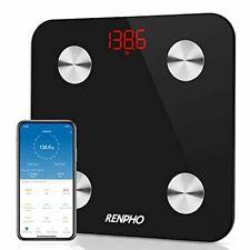 RENPHO Smart Bathroom Scale, Bluetooth Body Fat Monitor Weight Scale,Digital BMI