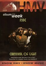 """NEWSPAPER CLIPPING/ADVERT 25/6/94PGN11 15X11"""" RIDE : CARNIVAL OF LIGHT FRAMED"""