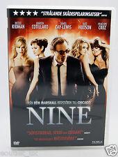 Nine The Musical DVD Region 2 NEW Daniel Day-Lewis Nicole Kidman Penelope Cruz