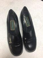 Cole Haan Women's Black Leather Slip On Dress Shoes Size Sz 7 B