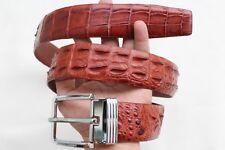 Crocodile Leather Skin Men/'s Belt # TL0129 Red Brown Genuine Alligator