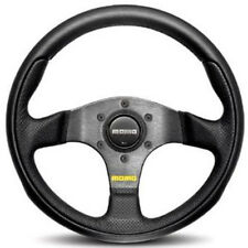 MOMO TEAM STEERING WHEEL: 300mm (BLACK W/ BLACK SPOKE) TEA30BK0B