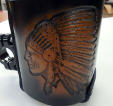 "Motorcycle 1"" Handle Bar Bottle holder Indian Head"