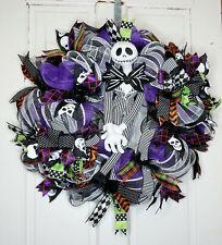 Halloween Door Wreath, Skellington Door Wreath, Wreath for Front Door