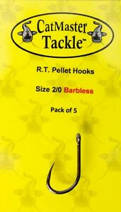 CatMaster Tackle R.T. Pellet Hooks Size 2/0 Barbless