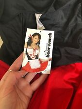 Ann Summers Beer Wench New Fancy 8 Dress Red Black Bnwt