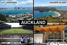 SOUVENIR FRIDGE MAGNET of AUCKLAND NEW ZEALAND