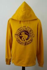 More details for majestic cleveland yellow hoodie size m