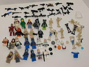 🔥Star Wars Legos & Others Mini Figures Lot Mandalorian Storm Troopers Obi-Wan