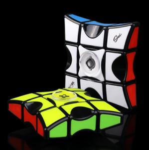 2 in 1 Fingertips Gyro Magic Rotating Cube Fidget Hand Finger Spinner Kids Toys