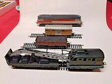 lot train HO Lima SNCF 72105 , grue 309058 , wagon Fiat 3163 , wagon charbon