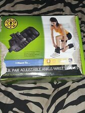 Gold's Gym Ankle/Wrist Weights 5 lb Pair Adjustable Ripped  Open Box