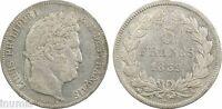 Louis-Philippe Ier, 5 francs IIe type Domard, 1839, B = Rouen - 56