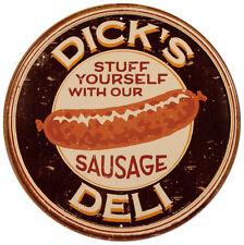 Dick's Sausage Tin Sign - 12x12