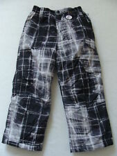 NWT Boys Zero XPosur Snow Pants Sz 4 Black Ski Snowboard Winter Cargo Lined NEW