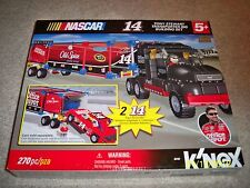 BRAND NEW! NASCAR K'NEX #14 TONY STEWART. TRANSPORTER RIG BUILDING SET!