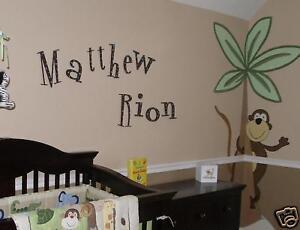 """10"""" Wooden nursery wall letters Espresso w/ polka dots!"""