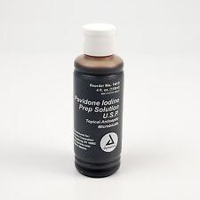 Povidone Iodine Prep Solution 4 oz Wound Infection Bacteria Skin Dynarex 1413