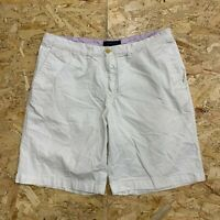 Vintage Tommy Hilfiger Men's Chino Shorts W36 White Classic Fit Zip Fly